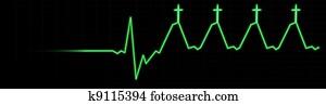 Life in Jesus EKG-Death to Life