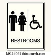 toilette zeichen, abbildung