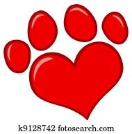 Love Paw Print