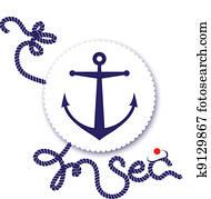 Nautical design, anchor
