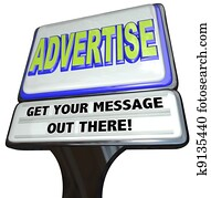 Advertise Sign Outdoor Advertisement Message Store