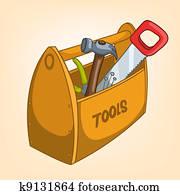 Cartoon Home Miscellaneous Tool Box