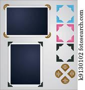 photo frames and corners