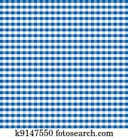 Seamless Pattern, Blue Gingham