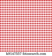 Seamless Pattern, Red Gingham