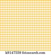 Seamless Pattern, Yellow Gingham