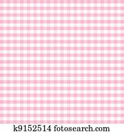 Seamless Pattern, Pastel Gingham