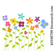 buntes, frühjahrsblumen