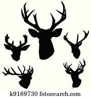 deer antlers silhouette