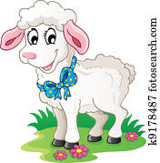 Cute cartoon lamb