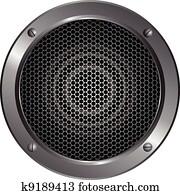 Detailed speaker icon