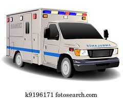 Modern Emergency Services Ambulance Illustration