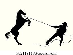 cowboy vector silhouettes