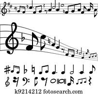 musik merkt, und, symbole
