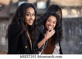 African american teen models are