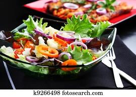 Farmer vegetable salad