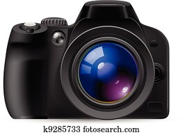 realistisch, digital kamera