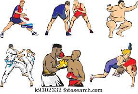 sports figures - martial arts