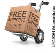 free shipping carboard box