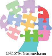 Woman faces mind thought problem puzzle