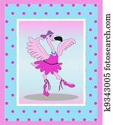 Dancing Flamingo Ballerina