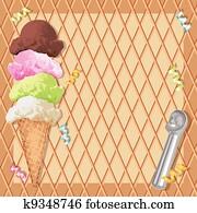 Ice cream cone birthday party
