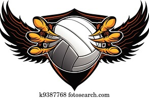 Eagle Volleyball Talons and Claws Vector Illustration