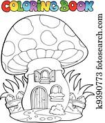 Clipart Ausmalbilder Mit Geisterbahn K4770814 Suche Clip Art