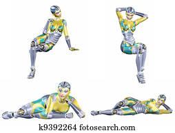 Female Robot Pack -