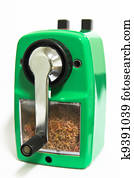 Grinding manual pencil sharpener isolated
