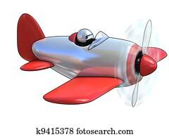 cartoon like airplane