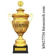 champion golden trophy