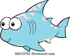 Cute Shark Vector