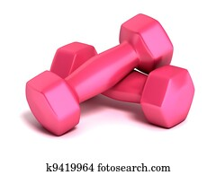 pink fitness weights