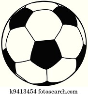 Soccer Ball Silhouette Isolation