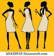 Elegant Party Women