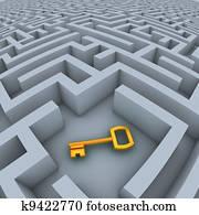 key in labyrinth