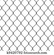 seamless fence isolated