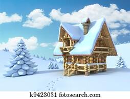 winter or Christmas scene