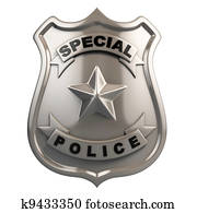 police badge isolated