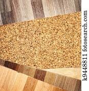 Oak parquet and cork flooring texture Stock Photo | k9313557