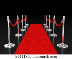 red carpet 3d illustration