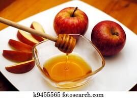 Jewish New Year - Rosh Hashanah - Apple and Honey