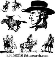 Vector Vintage Cowboy Graphics