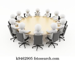 3D people business meeting