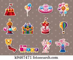 cartoon Playground stickers