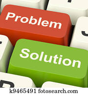 Problem And Solution Computer Keys Shows Assistance And Solving Online