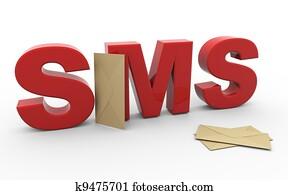 3d sms envelope