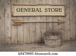 Vintage sign, General Store