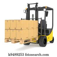 Forklift Truck and Pallet.